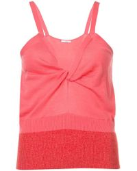 TOME - V-neck Fitted Tank Top - Lyst
