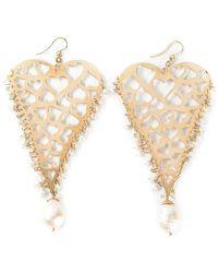Natasha Zinko - 18kt Yellow Gold Heart Earrings - Lyst