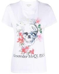 Alexander McQueen - スカル Tシャツ - Lyst