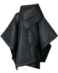 Barbara I Gongini Asymmetric Windbreaker Coat - Black