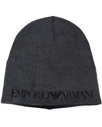 Emporio Armani ロゴ ビーニー - グレー