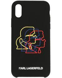 Karl Lagerfeld Coque pour iPhone XS Bauhaus Cameo - Noir