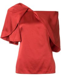 Peter Pilotto Asymmetric Draped Shirt - Red