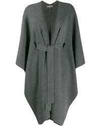 N.Peal Cashmere Belted Blanket - Grey