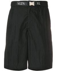 Valentino - Printed Logo Bermuda Shorts - Lyst