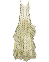 Rosie Assoulin ストライプ ドレス - イエロー