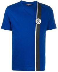 MICHAEL Michael Kors Рубашка С Боковыми Полосками И Логотипом - Синий