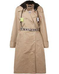 DIESEL Hooded Trench Coat