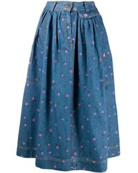 Marc Jacobs The Found Skirt - Blue