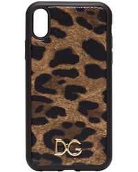 Dolce & Gabbana Leopard-print Iphone Xr Case - Brown