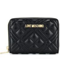 Love Moschino Quilted Zip-around Wallet - Black