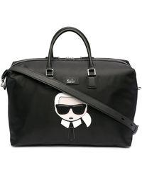 Karl Lagerfeld Karl Logo Tote Bag - Black