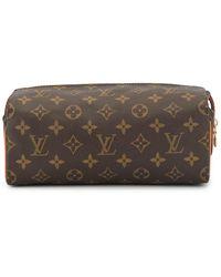 Louis Vuitton 'Trousse Patte Pression' Kosmetiktäschchen - Braun