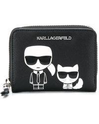 Karl Lagerfeld Маленький Кошелек K/ikonik - Черный