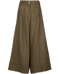 Nicholas Wide Leg Trousers - Green