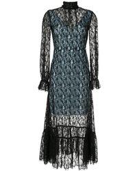 Calvin Klein シアーレース ドレス - ブラック