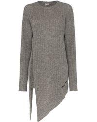 Miu Miu - Asymmetric Wool Pullover - Lyst