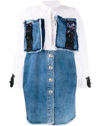 Loulou デニムシャツドレス - ブルー