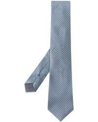 Giorgio Armani Cravate à rayures - Bleu