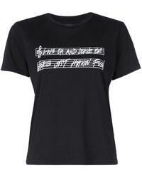 Amiri Sheet Music Tシャツ - ブラック