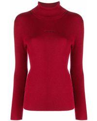 Calvin Klein リブニット セーター - レッド