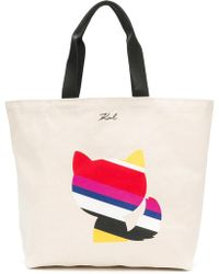Karl Lagerfeld - K/stripes Luxury Canvas Shopper - Lyst