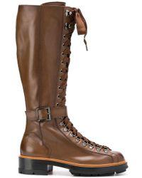 Santoni - Lace-up High Boots - Lyst