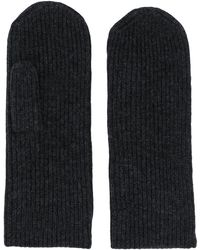 Isabel Marant Ribbed Knitted Mitts - Black