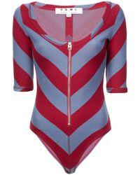 Proenza Schouler - Pswl Diagonal Stripe Scoop Bodysuit - Lyst