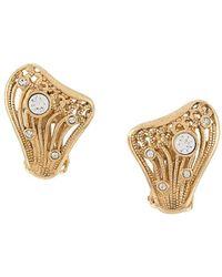 Dior Boucles d'oreilles à motif de harpe - Métallisé
