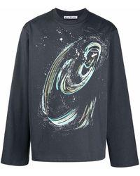 Acne Studios グラフィック ロングtシャツ - グレー