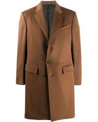 Ermenegildo Zegna Single-breasted Cashmere Coat - Brown