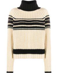 Essentiel Antwerp Striped Ribbed-knit Jumper - Multicolour