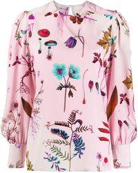 Stella McCartney - Блузка С Цветочным Принтом - Lyst