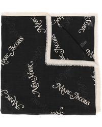 Marc Jacobs ロゴプリント スカーフ - ブラック