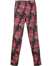 John Richmond Pantalon crop à fleurs - Noir