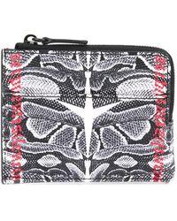 Marcelo Burlon Snake Print Wallet - Black