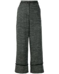 Pringle of Scotland - Turn Up Wide Leg Trousers - Lyst