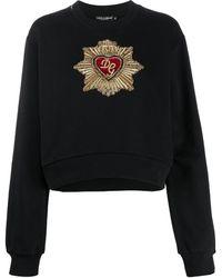 Dolce & Gabbana Декорированная Толстовка - Черный