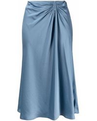 Ba&sh Candice サテンスカート - ブルー