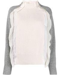Sacai - フリルトリム セーター - Lyst