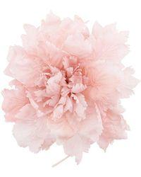 Ann Demeulemeester Oversized Flower Brooch - Pink