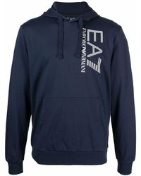 EA7 Худи С Логотипом - Синий
