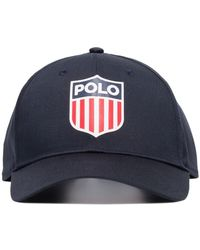 Polo Ralph Lauren Usa Logo Baseball Cap - Blue