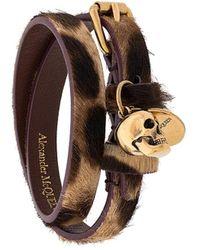 Alexander McQueen Браслет С Подвеской Skull - Многоцветный