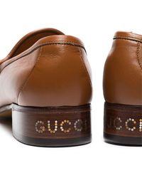 Gucci - Loafer mit Stegverzierung - Lyst