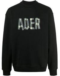 ADER error ロゴ スウェットシャツ - ブラック