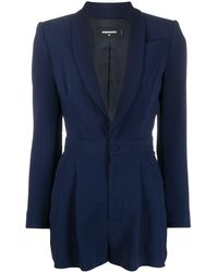 DSquared² Fitted Blazer Playsuit - Blue