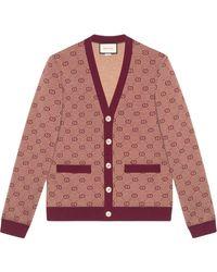 Gucci Vest Met Jacquard Dessin - Rood