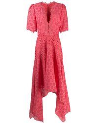 Costarellos マクラメ ドレス - ピンク